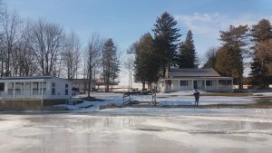 Winter: Ice starting to melt