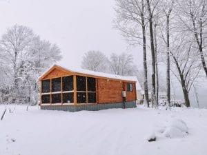 Winter: Sauna Cabin